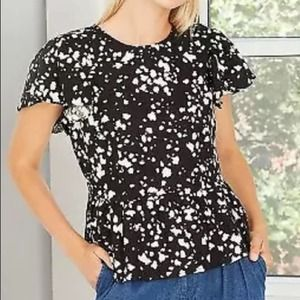 WHO WHAT WEAR SPECKLED SPOTS BLOUSE